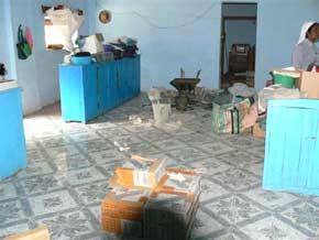 le sol des dortoirs a été recouvert de carrelage