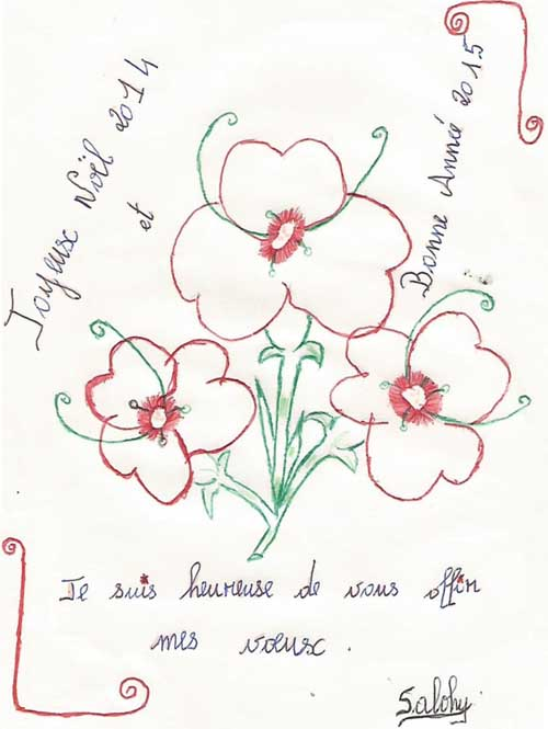 Lettre de voeux de l'orphelinat d'Antalaha