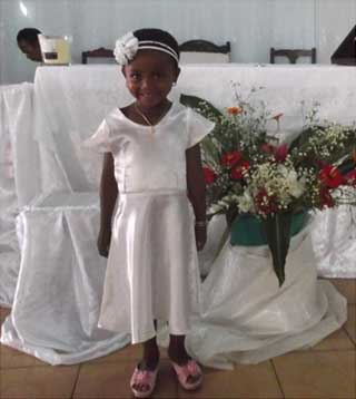 Voeux d'une orpheline de Madagascar