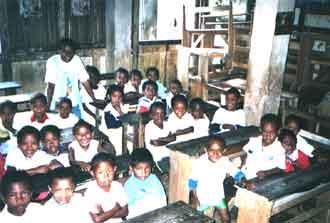 une classe de l'école Saint Joseph