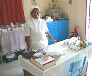 Le dispensaire de l'orphelinat St Joseph sur l'Ile Ste Marie