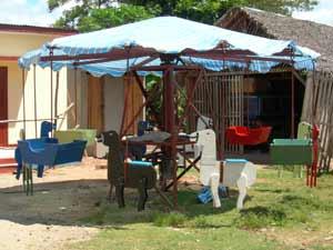 Le manège installé à l'orphelinat Saint Joseph