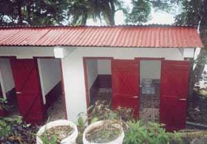 Le nouveau bloc sanitaire de l'orphelinat Saint Joseph