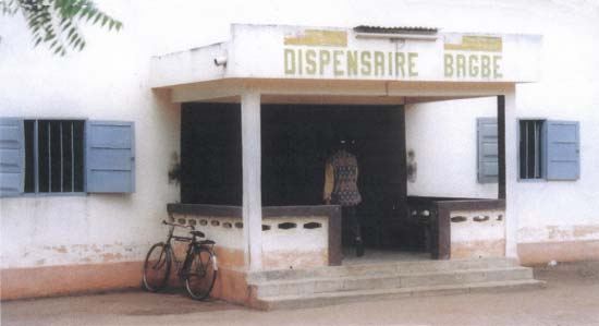 Dispensaire à Bagbé au Togo