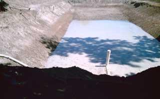 Tuyau de vidange du premier bassin