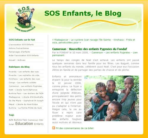 Le blog des nouvelles de SOS Enfants