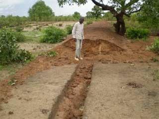 Les premières pluies de la saison à Guiè, Burkina Faso