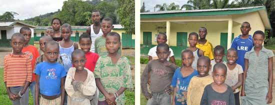 Les enfants des familles Araignées et Lions