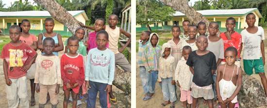 Les enfants des familles Fourmis et Eclaireurs