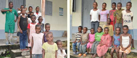 Les enfants des familles Poussins et Chatons