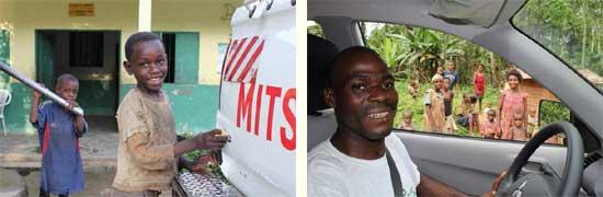 La nouvelle voiture du Fondaf Bipindi au Cameroun