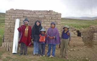 Une bergerie familiale dans l'Altiplano bolivien