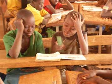 Classe de l'école de Cissé-Yargho au Burkina Faso