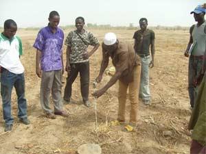 Lancement des travaux de l'école B de Guiè, Burkina Faso
