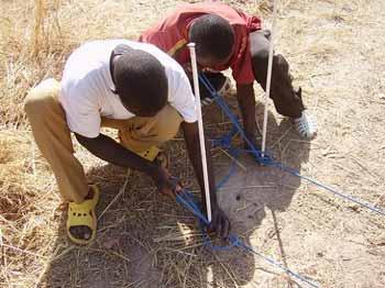 Tracé des mesures de la section D du périmètre de Cissé-Yargho