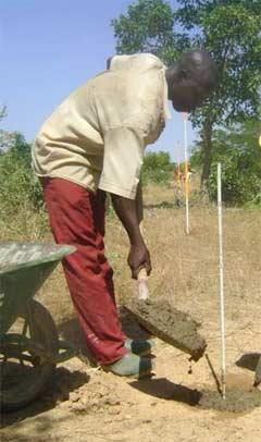 Arpentage du périmètre bocager de Goèma, Burkina Faso
