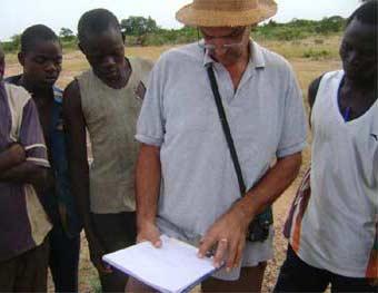 Choix du site pour un périmètre bocager à Goèma, Burkina Faso