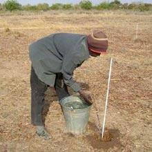 Arpentage du site de la Ferme Pilote de Goèma, Burkina Faso
