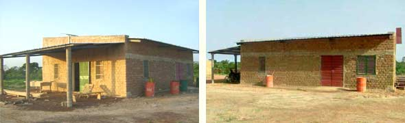 Le bureau-magasin de la Ferme Pilote de Goèma, Burkina Faso