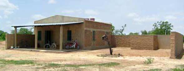 Le logement de fonction du directeur de la Ferme Pilote de Goèma, Burkina Faso