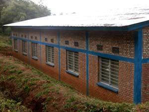 Le bâtiment de la maternité terminé