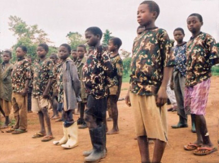 Enfants soldats démobilisés en réinsertion à Goma