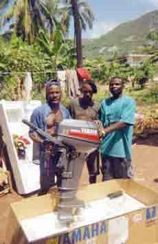 Un moteur neuf pour la pêche côtière en Haïti