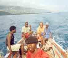 Pêche artisanale en mer en Haïti
