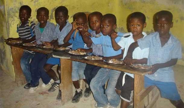 Cantine à l'école de Fourgy en Haïti