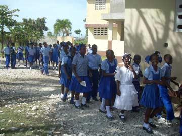 Enfants de l'école St Alphonse de Fourgy
