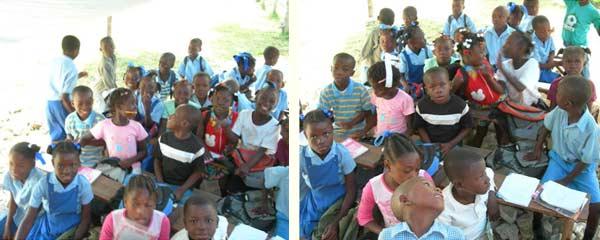 Classe provisoire dans l'école annexe St Alphonse de Cité Soleil