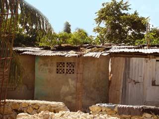Bidonville de Cité Soleil en Haïti après le cyclone Hanna