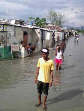 Cyclone sur Haïti: Les rues de Cité Soleil inondées