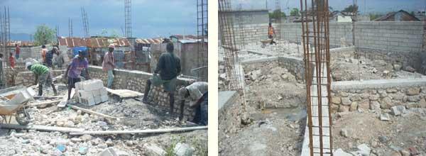 Fondations des classes du Préscolaire, école St Alphonse de Cité Soleil en Haïti