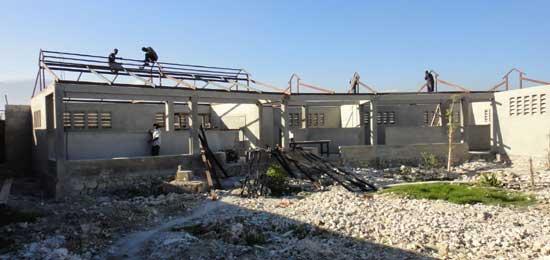 Reconstruction de la section Préscolaire - Ecole St Alphonse, Cité Soleil, Haïti