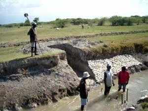 Le premier barrage en béton a lâché