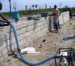 Remplissage du bassin après nettoyage