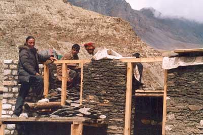 Construction d'une école au Népal