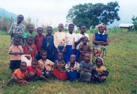 Une classe de l'école primaire de Kirungu au Nord Kivu