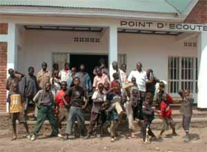 Inauguration du nouveau centre d'accueil, les enfants