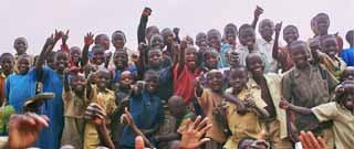 Rassemblement hebdomadaire des enfants des rues