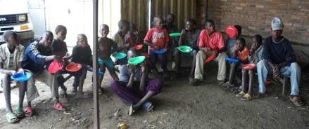 Repas des enfants des rues non scolarisés