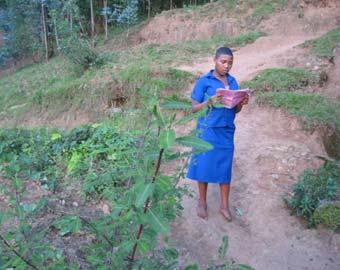 Sur le chemin de l'école au Rwanda