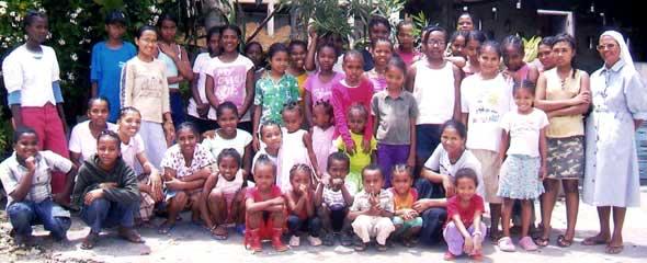 Orphelines de Ste Jeanne d'arc à Majunga