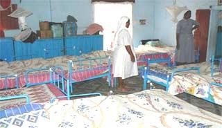 Un ancien dortoir de l'orphelinat Saint Joseph