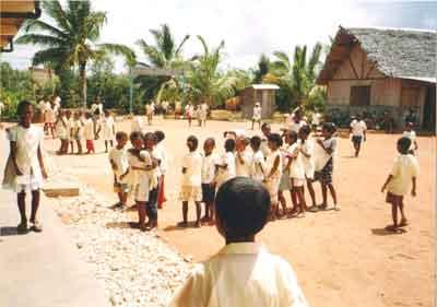 la cour de récréation de l'école Saint Joseph