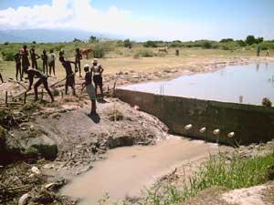 Le premier barrage en béton