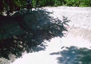 Tuyau de vidange du premier bassin d'élevage