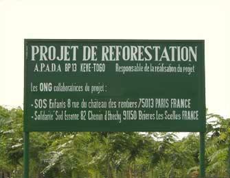 reboisement et reforestation au Togo
